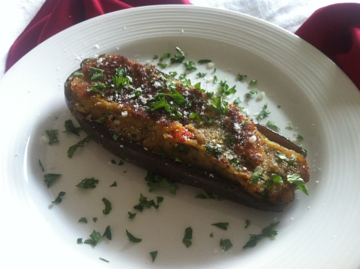 Calabrese Stuffed Eggplant