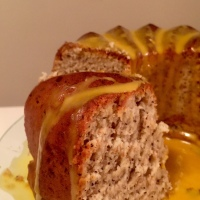 Spiced Banana Poppyseed Cake